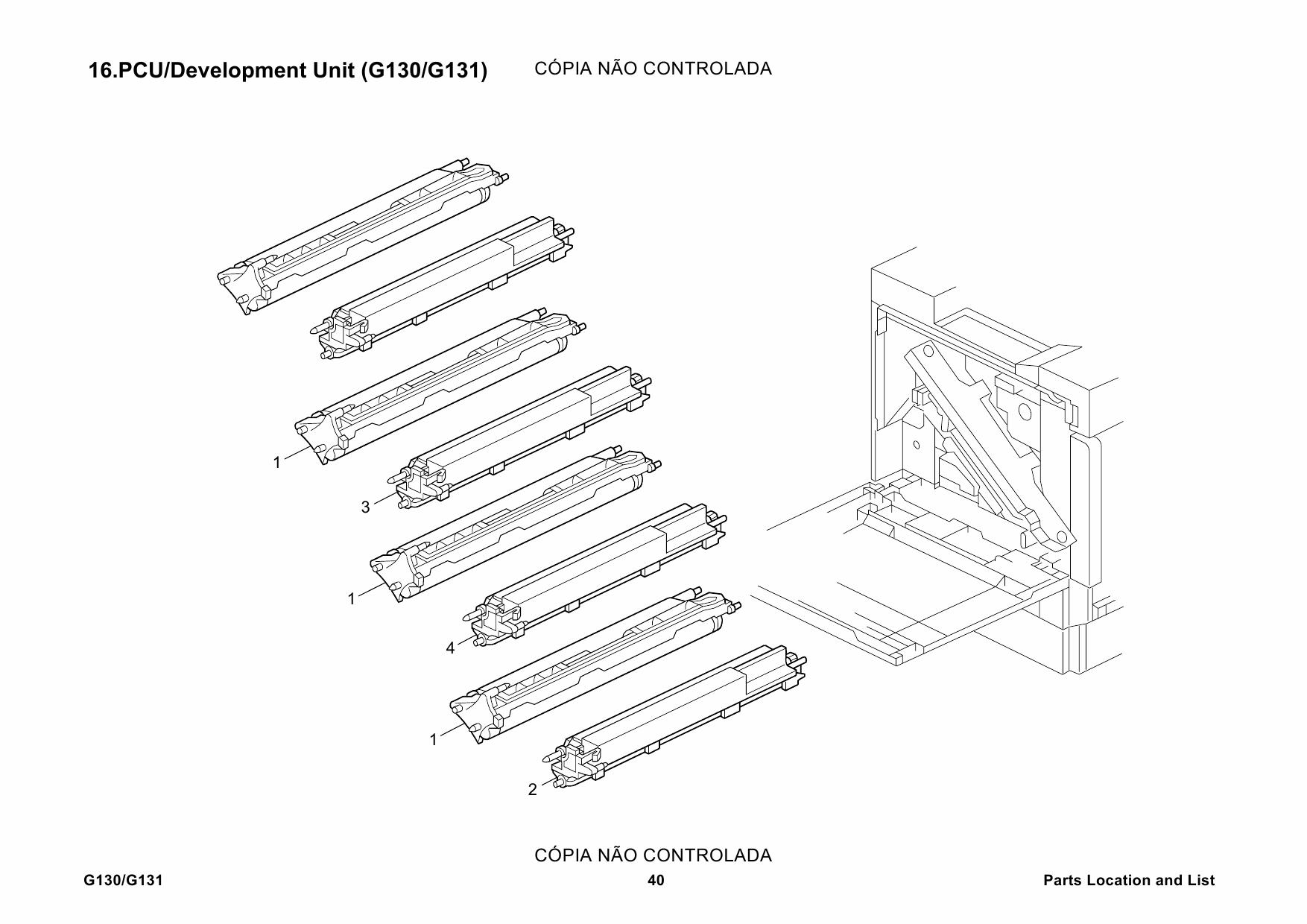 Ricoh Aficio Cl G130 G131 Parts Catalog